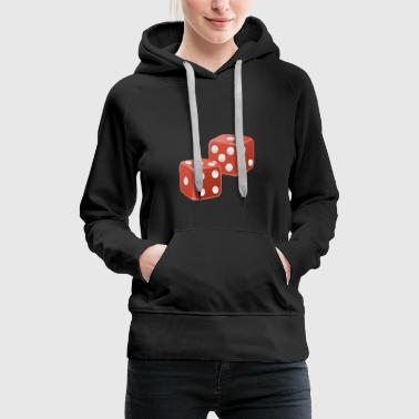 Game cubes in red - Women's Premium Hoodie