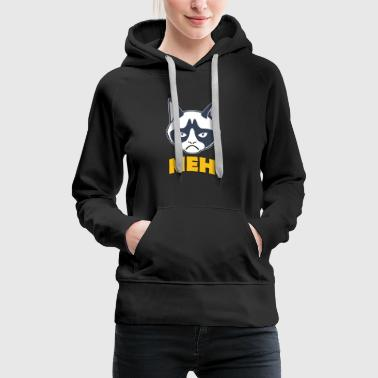 grumpy cat meh coloful - Women's Premium Hoodie