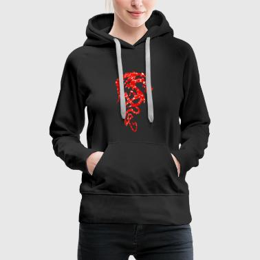 Dragon - Mosaic - red - Women's Premium Hoodie