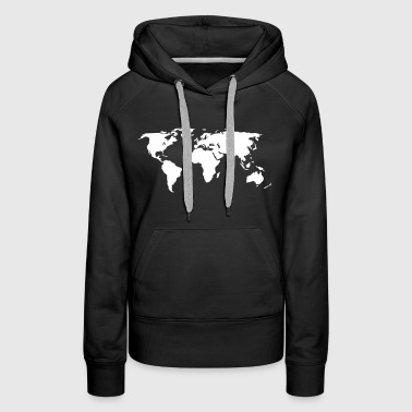 world map - Women's Premium Hoodie