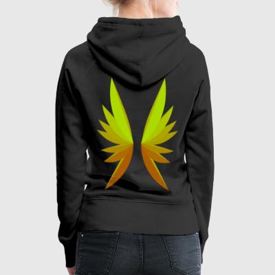 Wing orange - yellow - Women's Premium Hoodie