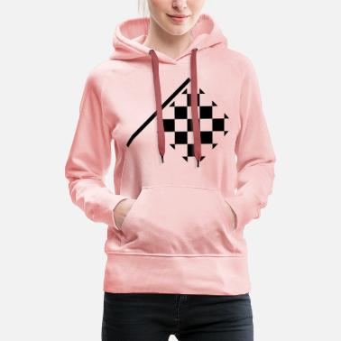 Checkered flag offside - Customizable - Women's Premium Hoodie