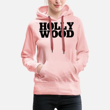 Hollywood Hollywood - Felpa con cappuccio premium donna