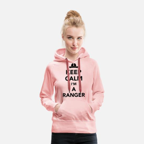 Forest Hoodies & Sweatshirts - Keep calm Ranger - Women's Premium Hoodie crystal pink