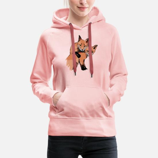 9685a756fd180 cute baby foxes, hand painted, gift Women's Premium Hoodie | Spreadshirt