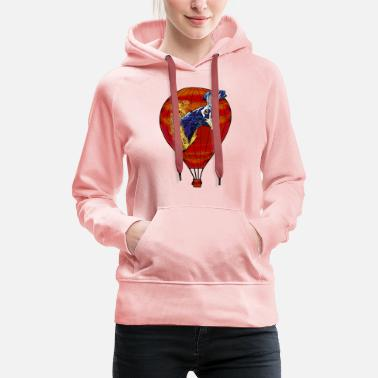 Mobile Phone Legakuly Bird Balloon Red - Women's Premium Hoodie