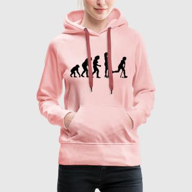 evolution_hockey_woman_a_1c - Frauen Premium Hoodie