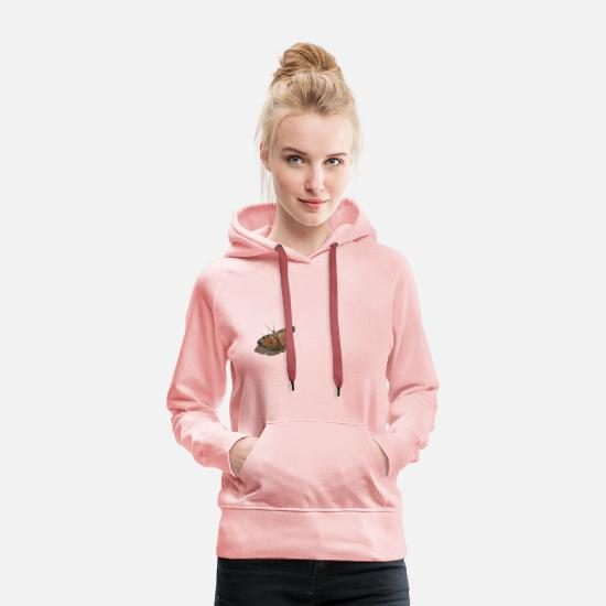 Animal Hoodies & Sweatshirts - peacock butterfly - Women's Premium Hoodie crystal pink