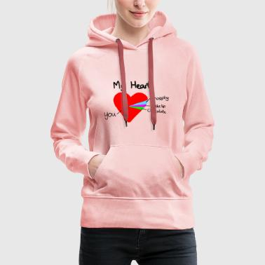 heart pie chart valentines day love - Sweat-shirt à capuche Premium pour femmes