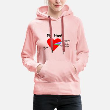 Valentines Day heart pie chart valentines day love - Women's Premium Hoodie