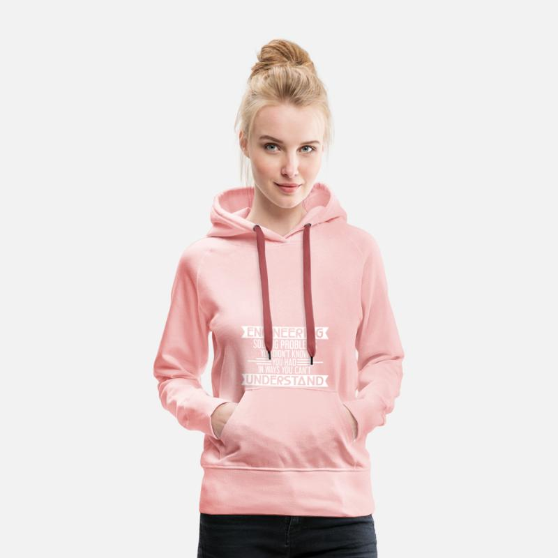 Engineer Hoodies & Sweatshirts - ENGINEERING - ENGINEERING - ENGINEERING - MECHANICAL ENGINEERING - Women's Premium Hoodie crystal pink