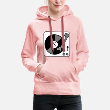 Turntable DJ Turntable - Sweat-shirt à capuche Premium pour femmes