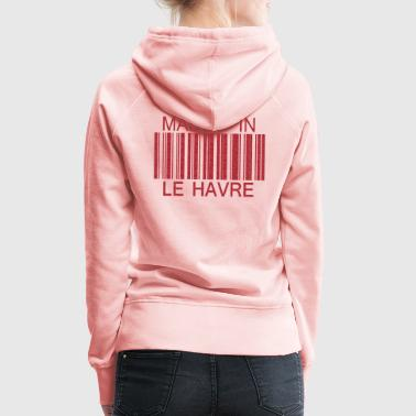 Made in le Havre - Sweat-shirt à capuche Premium pour femmes