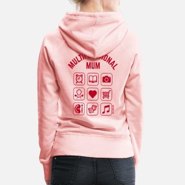 New Baby Multifunctional Mum (9 Icons) - Women's Premium Hoodie
