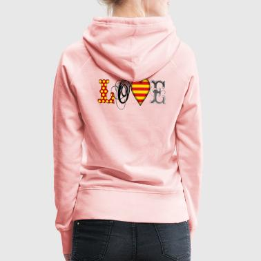 Love Catalonia Black - Frauen Premium Hoodie