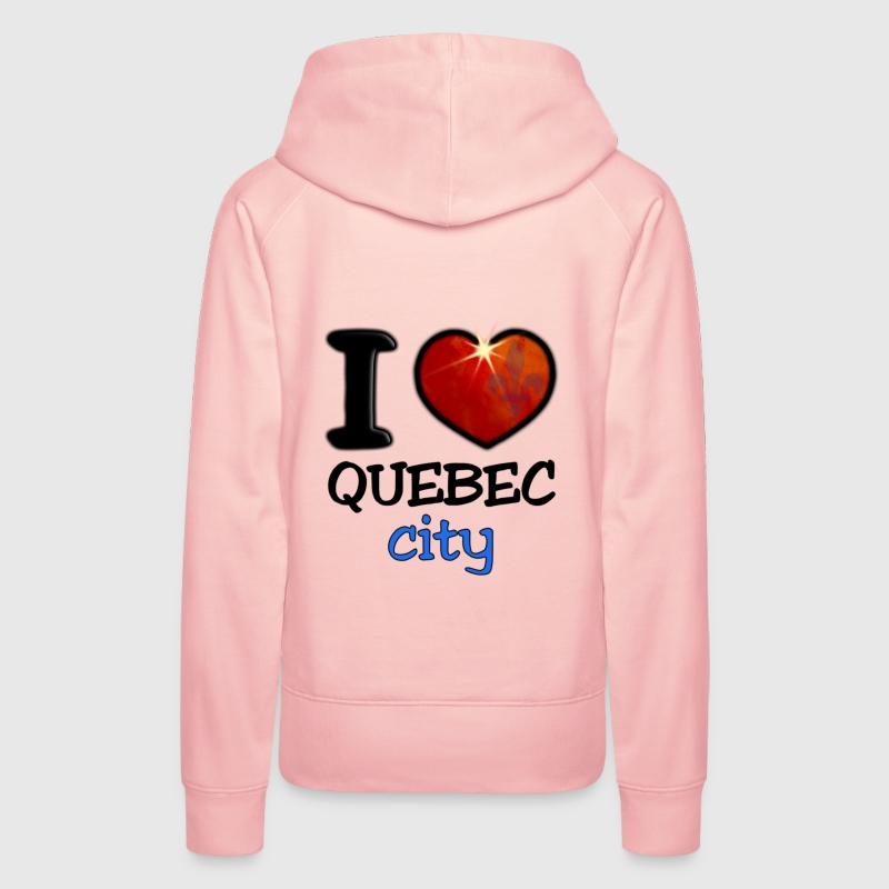 I Love Quebec City - Sweat-shirt à capuche Premium pour femmes