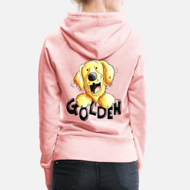Golden Retriever Divertente Golden Retriever - Felpa con cappuccio premium da donna