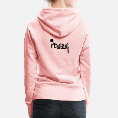 European Champion Football silhouette font in the middle - Women's Premium Hoodie