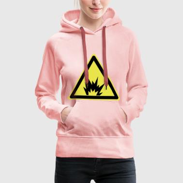 Attention explosive - Sweat-shirt à capuche Premium pour femmes