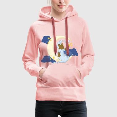 The bear in the moon - Women's Premium Hoodie