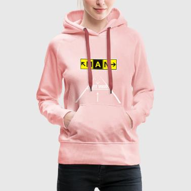 MAN Manchester Airport Station de taxi Sign & Runway 23R - Sweat-shirt à capuche Premium pour femmes