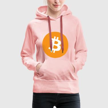 Bitcoin logo officiel - Sweat-shirt à capuche Premium pour femmes