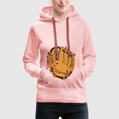 Baseball Glove - Premium hettegenser for kvinner