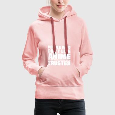 Anime eyes People who dont like anime - Women's Premium Hoodie