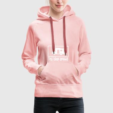 We sleep in a caravan and drive around - Women's Premium Hoodie