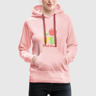 love first grade - Women's Premium Hoodie