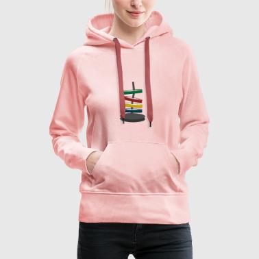 Coloured disks - Women's Premium Hoodie