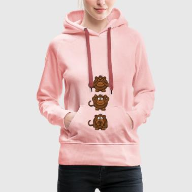 monkey faces - Women's Premium Hoodie