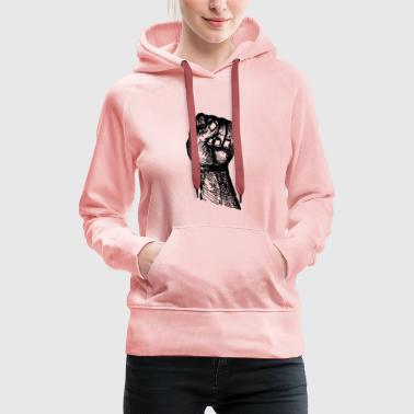 Hand fight - Sweat-shirt à capuche Premium pour femmes