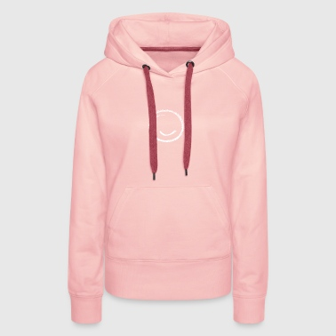Dessiné à la main Smiley (unisexe) - Sweat-shirt à capuche Premium pour femmes