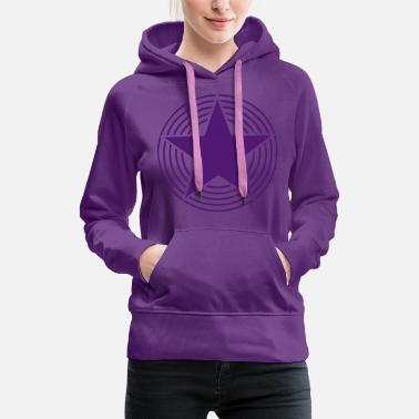 Star Collection Star With Circles - Frauen Premium Hoodie