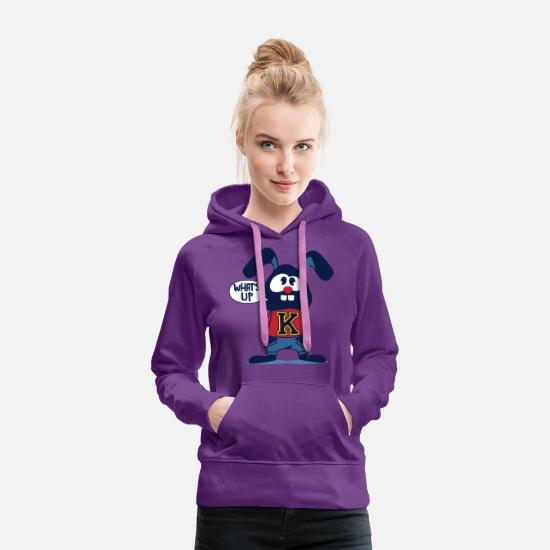 Gift Idea Hoodies & Sweatshirts - What is Hase? What's up? Cool for boy or baby! - Women's Premium Hoodie purple