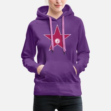 Video walk of fame + your name - Sudadera con capucha premium mujer