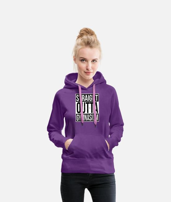 Eskalation Pullover & Hoodies - Straight Outta Gymnasium Deisng - Frauen Premium Hoodie Purple