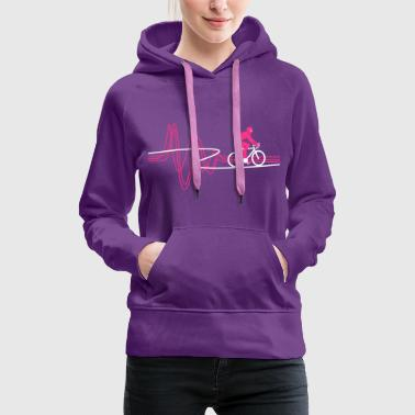 Road Bike Heartbeat - Women's Premium Hoodie