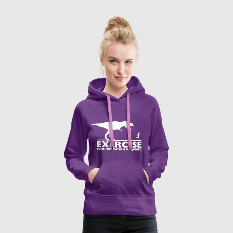 Exercise - some motivation required - Frauen Premium Hoodie