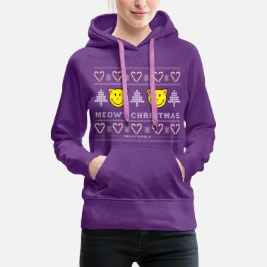 SmileyWorld Cute Cats Meowy Christmas - Women's Premium Hoodie