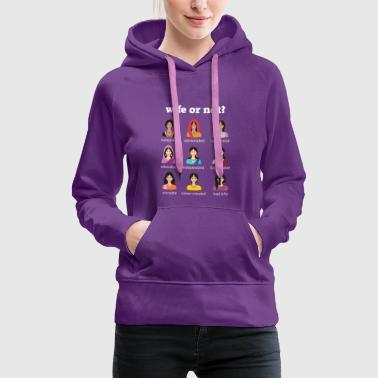 Desi WIFE OR NOT? - Women's Premium Hoodie