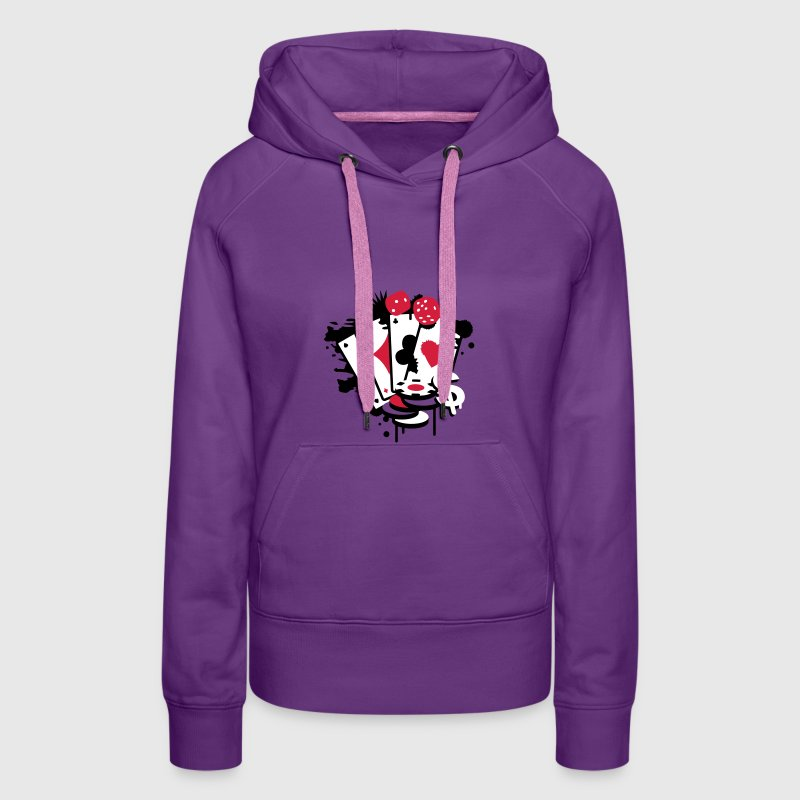 Card game hearts, spades, diamonds, clubs with dice and tokens - Vrouwen Premium hoodie