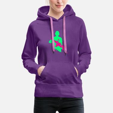 Bright Bright Colors - Shooter - Let's Shoot - Women's Premium Hoodie