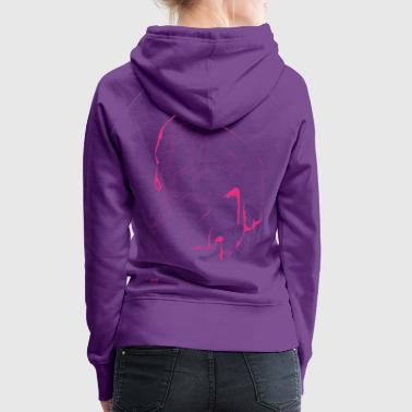 Kopf hoch! Illustration Freak pink neon Grafik Design Fantasie - Frauen Premium Hoodie