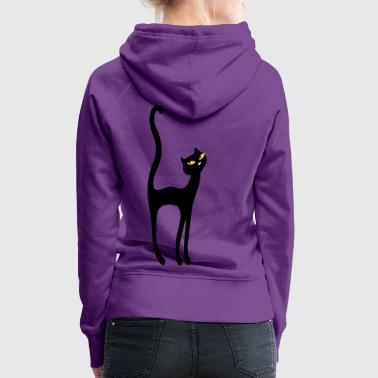 Retro Kittenish Cat by Patjila - Women's Premium Hoodie