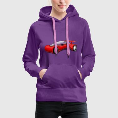 Futuristic sports car - Women's Premium Hoodie