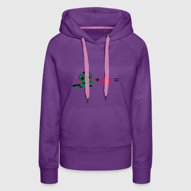Frog with a kiss - Women's Premium Hoodie