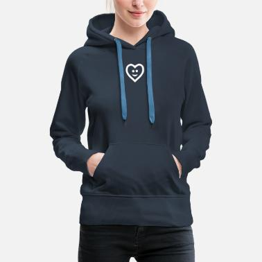 Cuore Heart with smile - Frauen Premium Hoodie