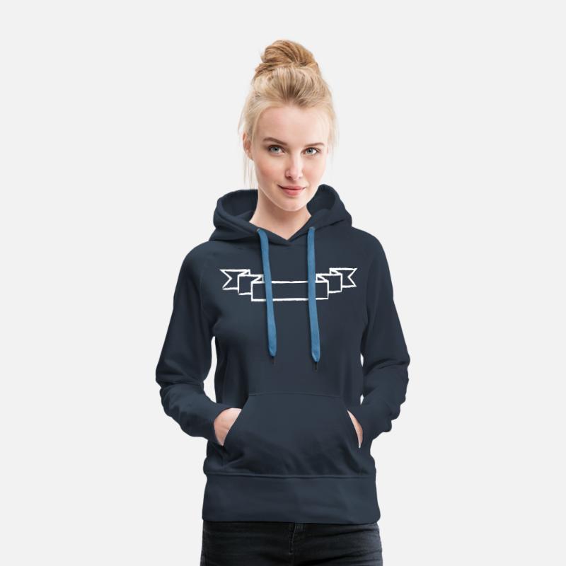 Personnalisation logo bannière sans texte bannière Sweat shirt à capuche Premium pour femmes marine